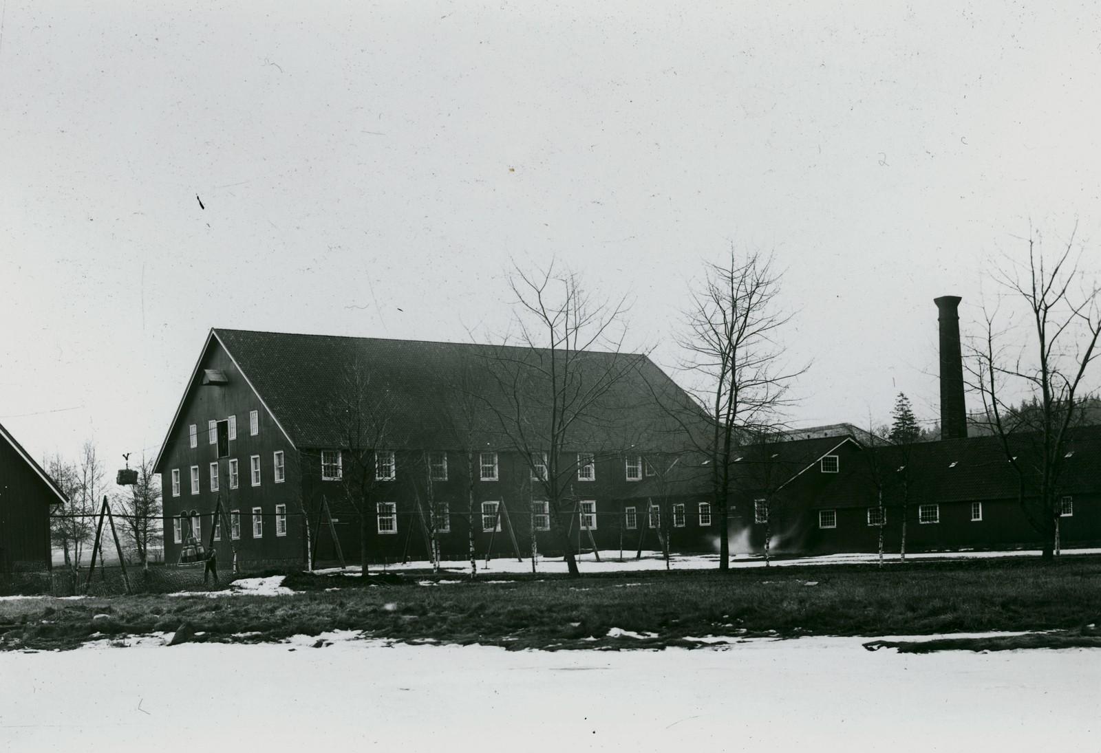 Trebygning vinteren 1891/92.