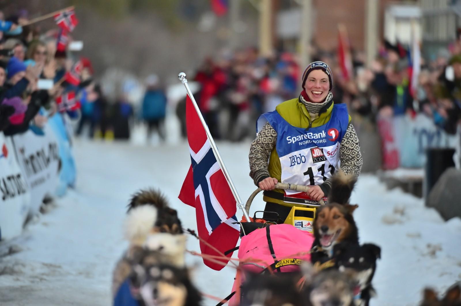Over 1000 kilometer er kjørt og hun kan endelig ta i mor heder og ære, samt en tittel som verdensmester
