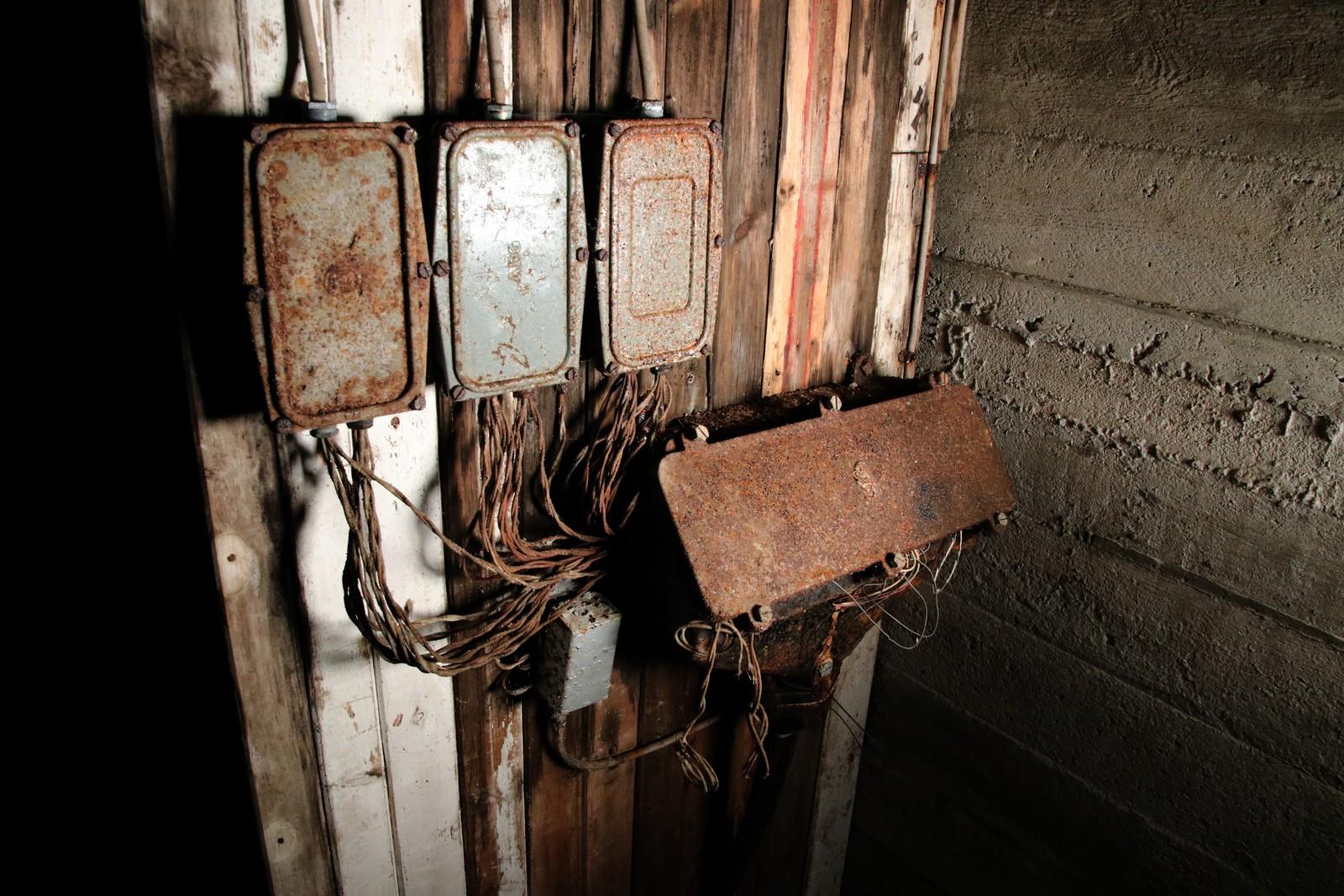 Det elektriske anlegget har stått urørt siden 2. verdenskrig.