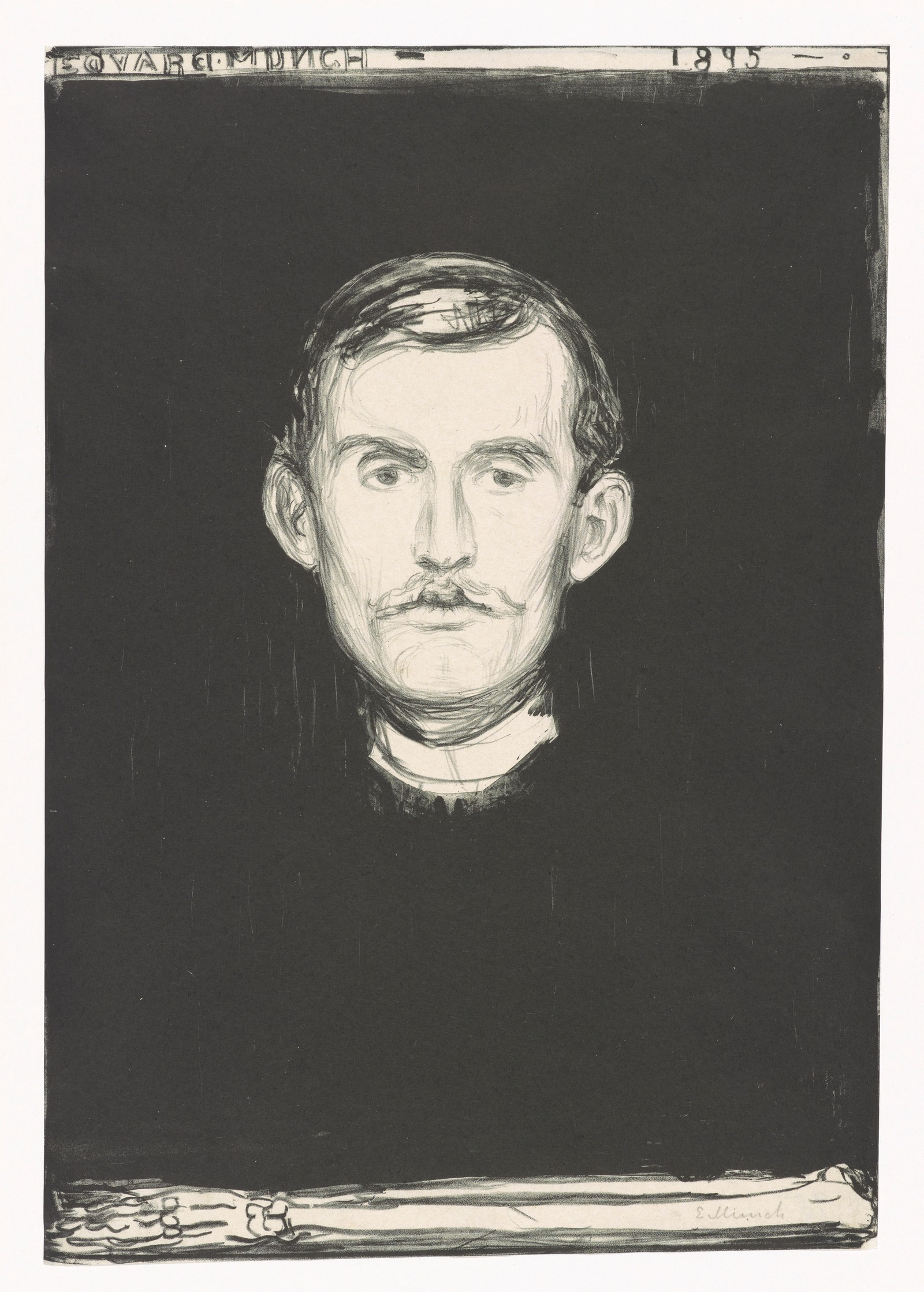Munch: Selvportrett, 1895