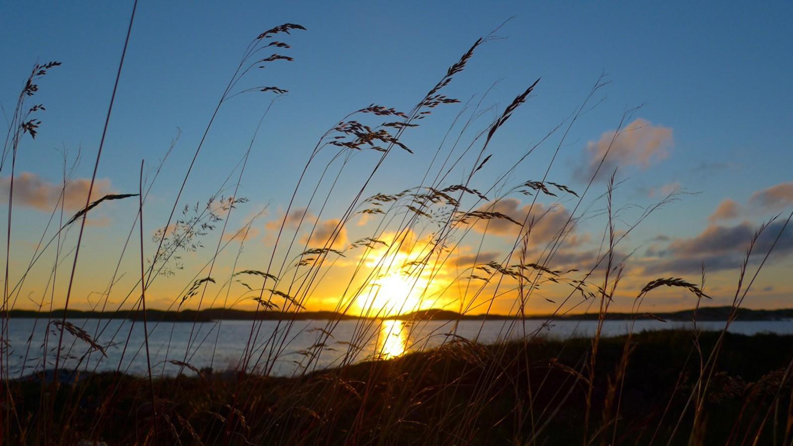 Solnedgang i Dolmsundet