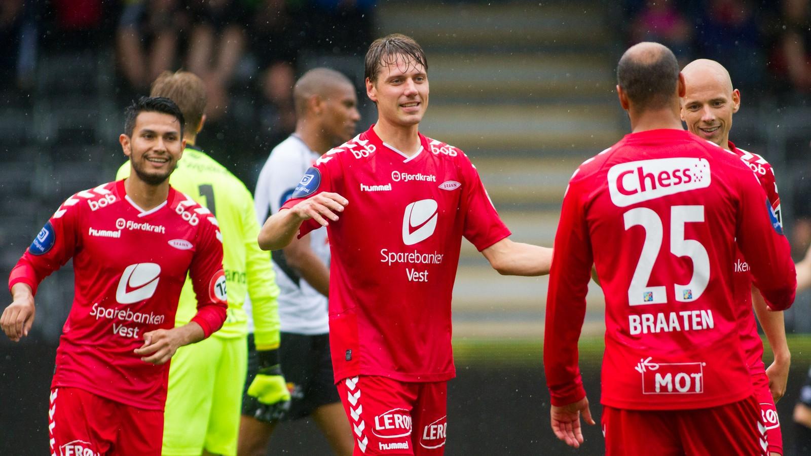Brann scora det første målet i trneingskampen mot Sogndal, men det vart til slutt uavgjort på Fosshaugane.