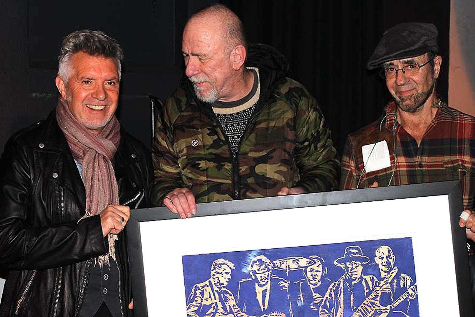 Dag Ringstad flankert av Mick Roberts og Manfred Mann