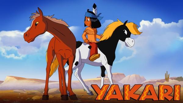 Den lille indianergutten Yakari  har en magisk evne til å forstå og snakke med alle dyr. Fransk animasjonsserie.