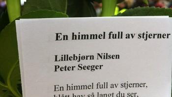 Bilde fra publikum, sendt til NRK.no