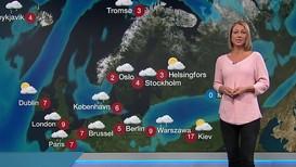 Værvarslingen har endret seg mye på kort tid, og meteorologen bruker ganske ofte folkelige begreper, skriver Værvarslingsdirektør Bård Fjukstad. På bildet er det Meteorolog Siri Wiberg som presenterer værvarselet i Dagsrevyen.