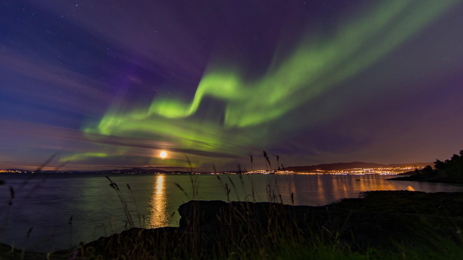 Nordlysnatt, sett fra Ringvebukta