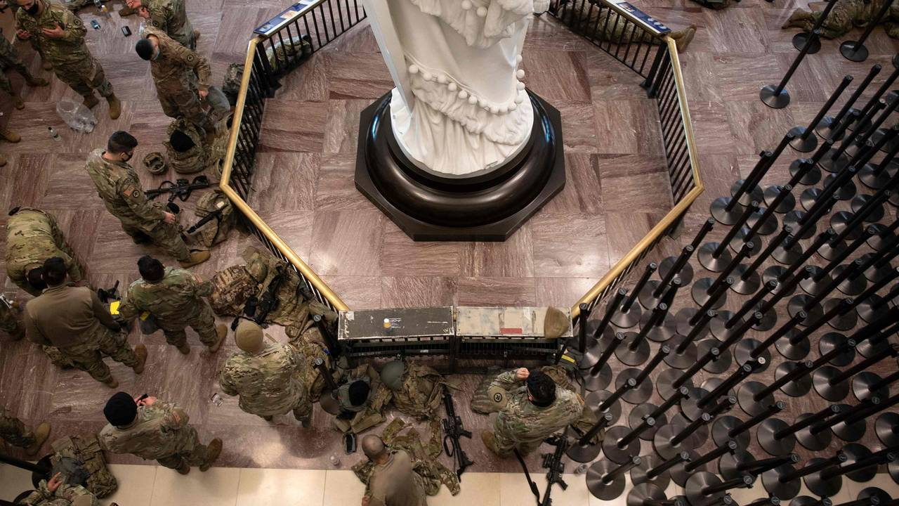 Sovende soldater i Kongressen
