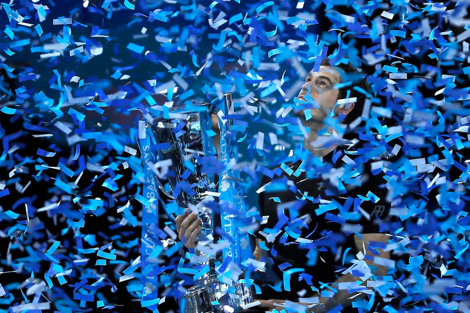 Andy Murray etter å ha vunnet tennisfinalen i London.