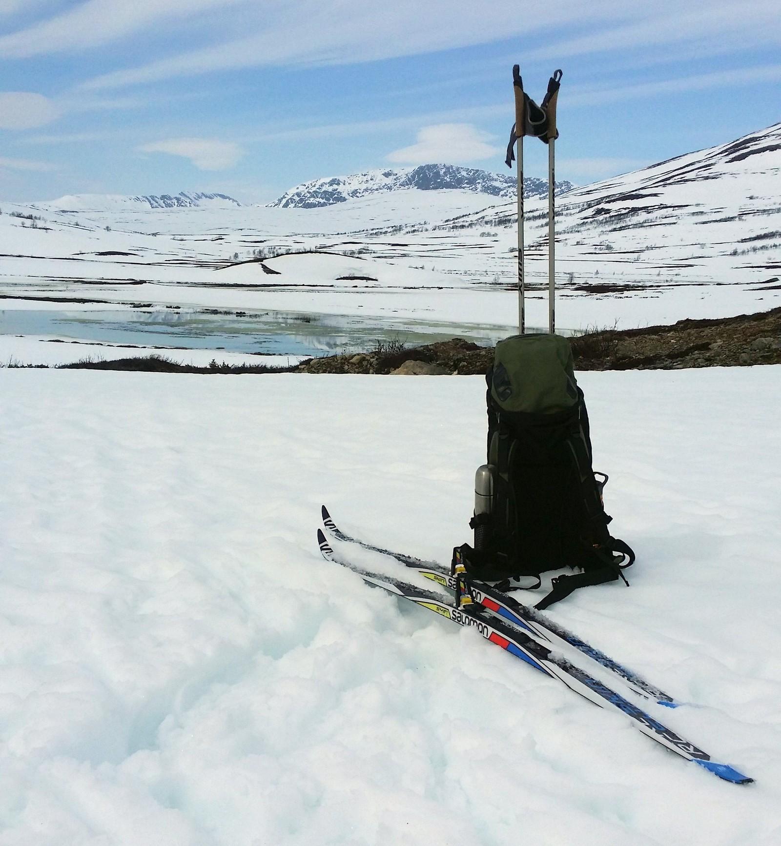 Med Blåhø i sikte på skitur i mai
