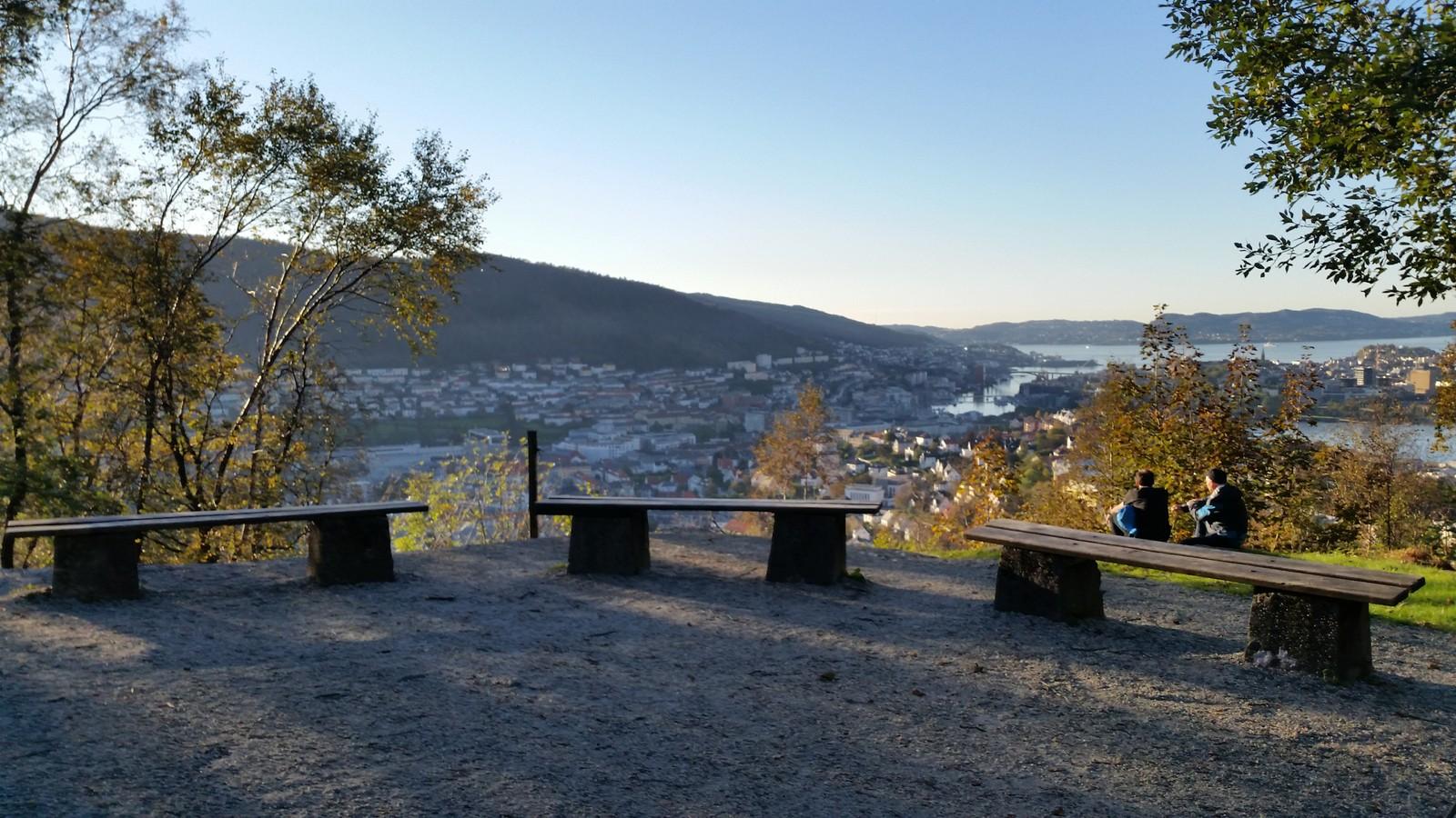 Frå toppen av Ulriken i Bergen.