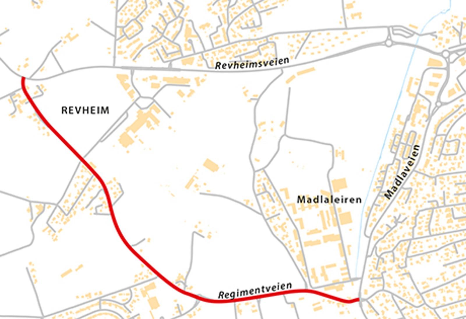 Regimentveien (Fv405), natt til onsdag 6. mai.