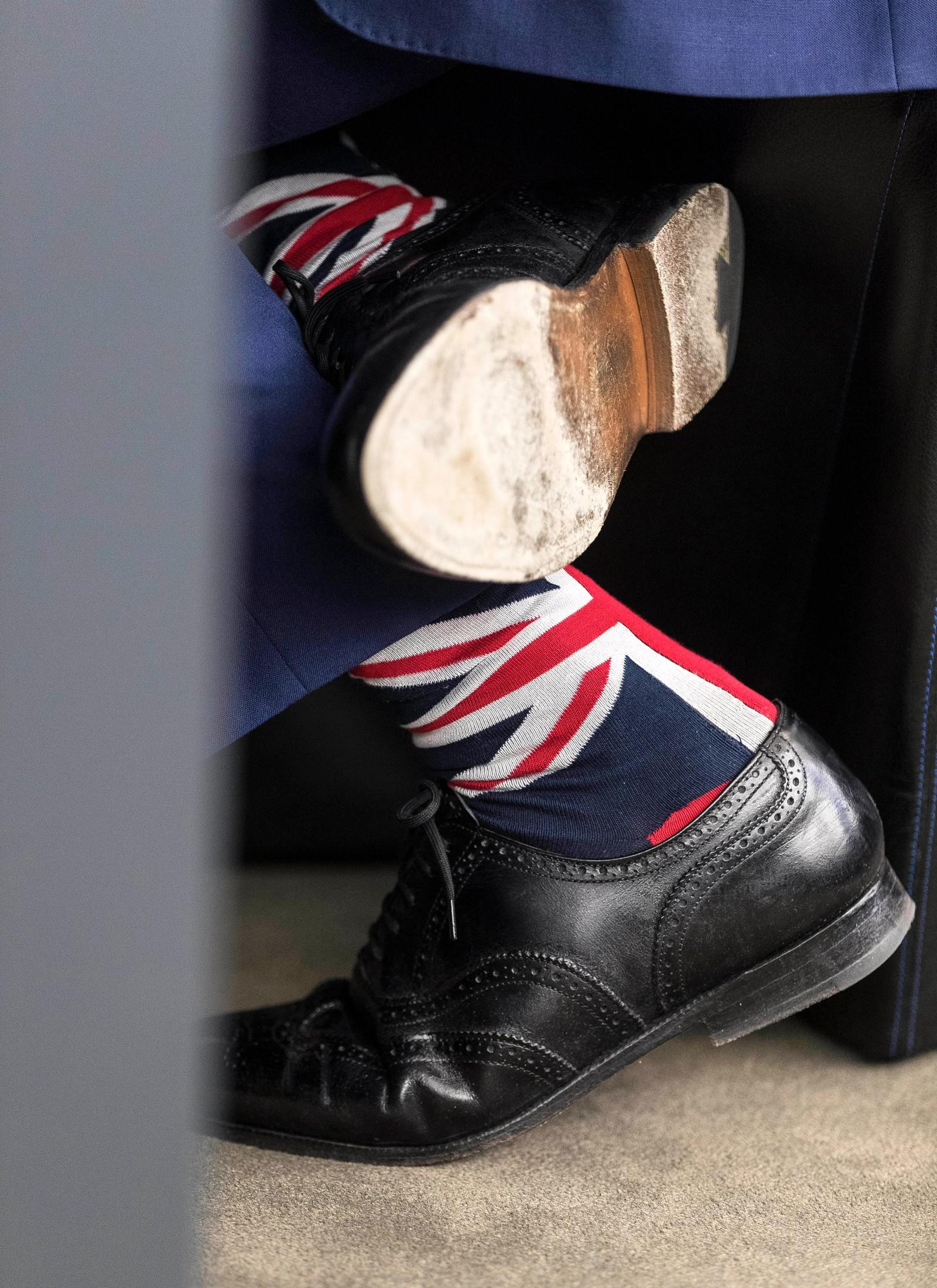 Den britiske Brexit-generalen Nigel Farage under et EU-møte i Strasbourg i Frankrike.