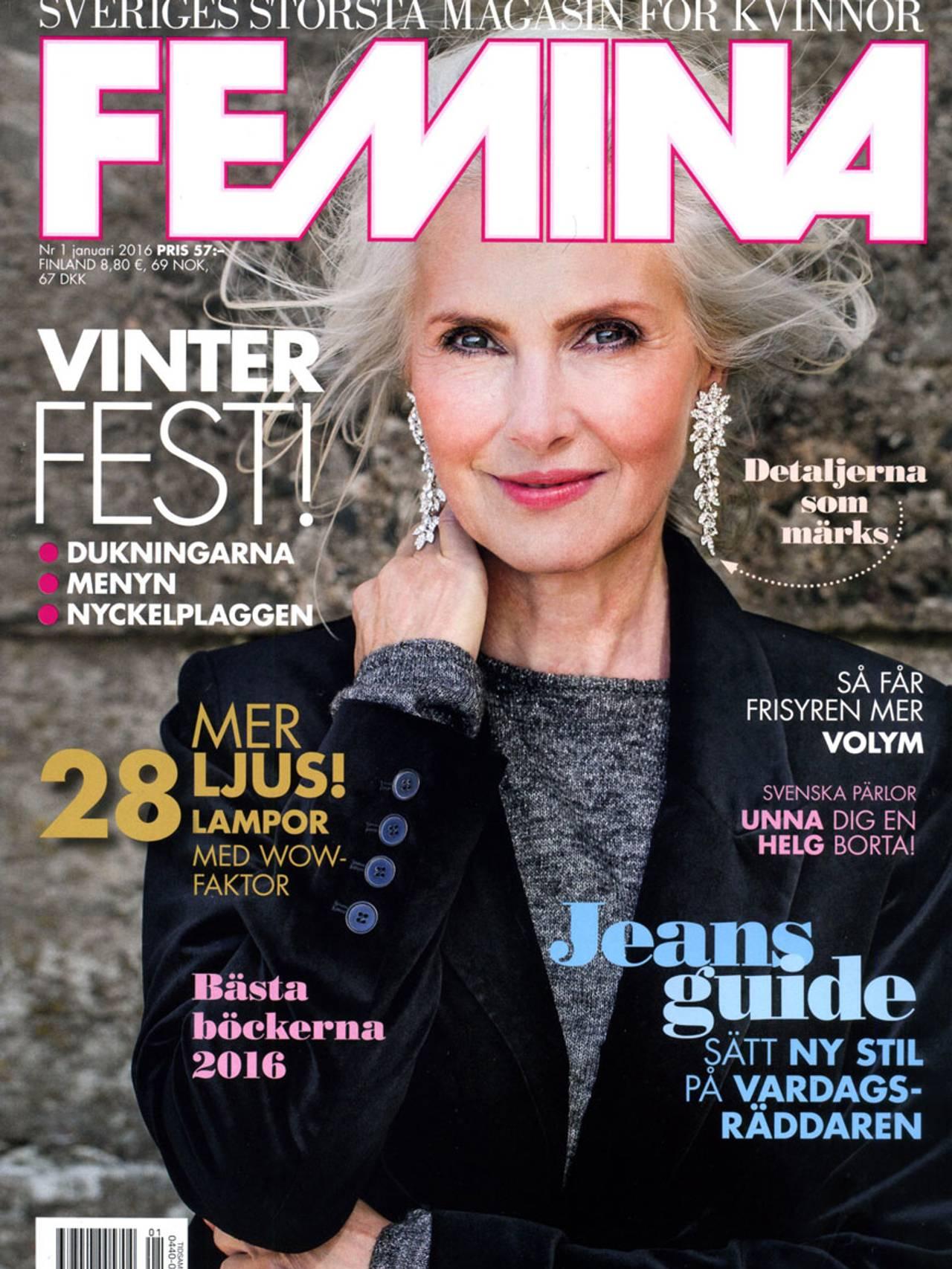 På forsiden av svenske Femina