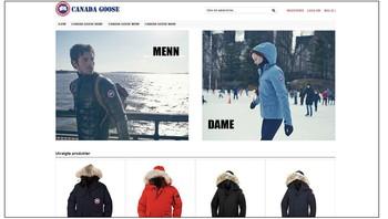 Nettbutikk med Canada Goode-klær som er påståtte kopier
