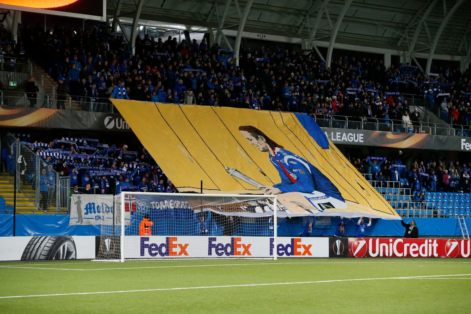 Molde 20160225. UEFA Europa League 2015/16: Molde - Sevilla. Europa League kampen mellom Molde og Sevilla på Aker Stadion. Foto: Svein Ove Ekornesvåg / NTB scanpix