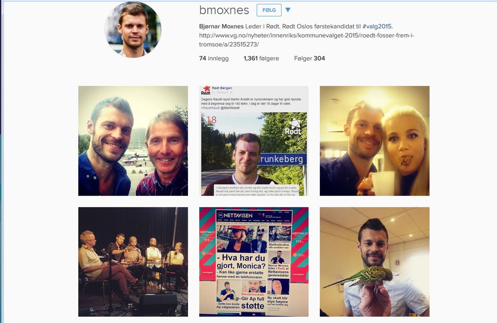 Rødt-leder Bjørnar Moxnes bruker mye humor i formidlingen av politikken sin på Instagram, men ikke hele veien.