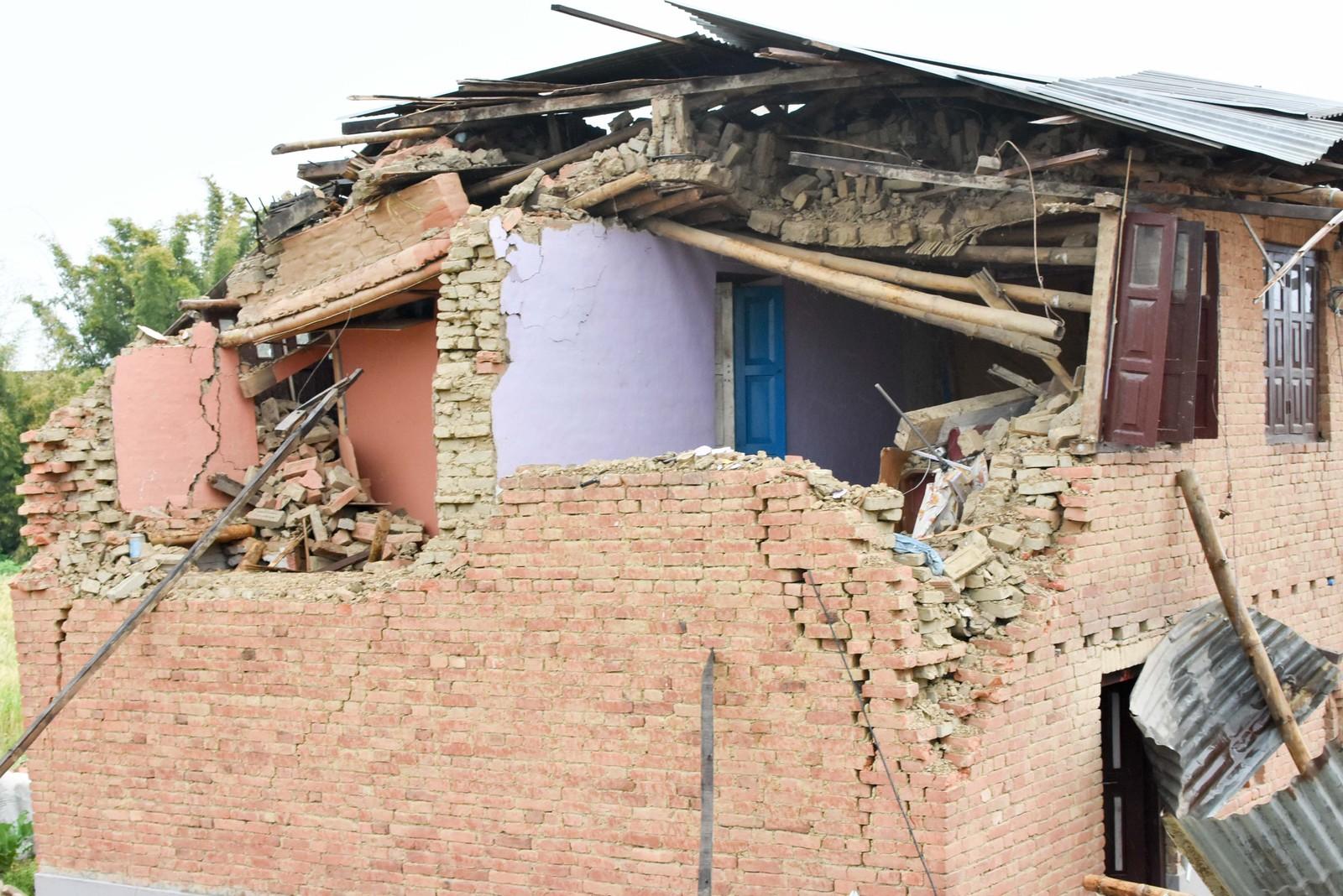 Sammenraste hus i landsbyen Sikaritar.