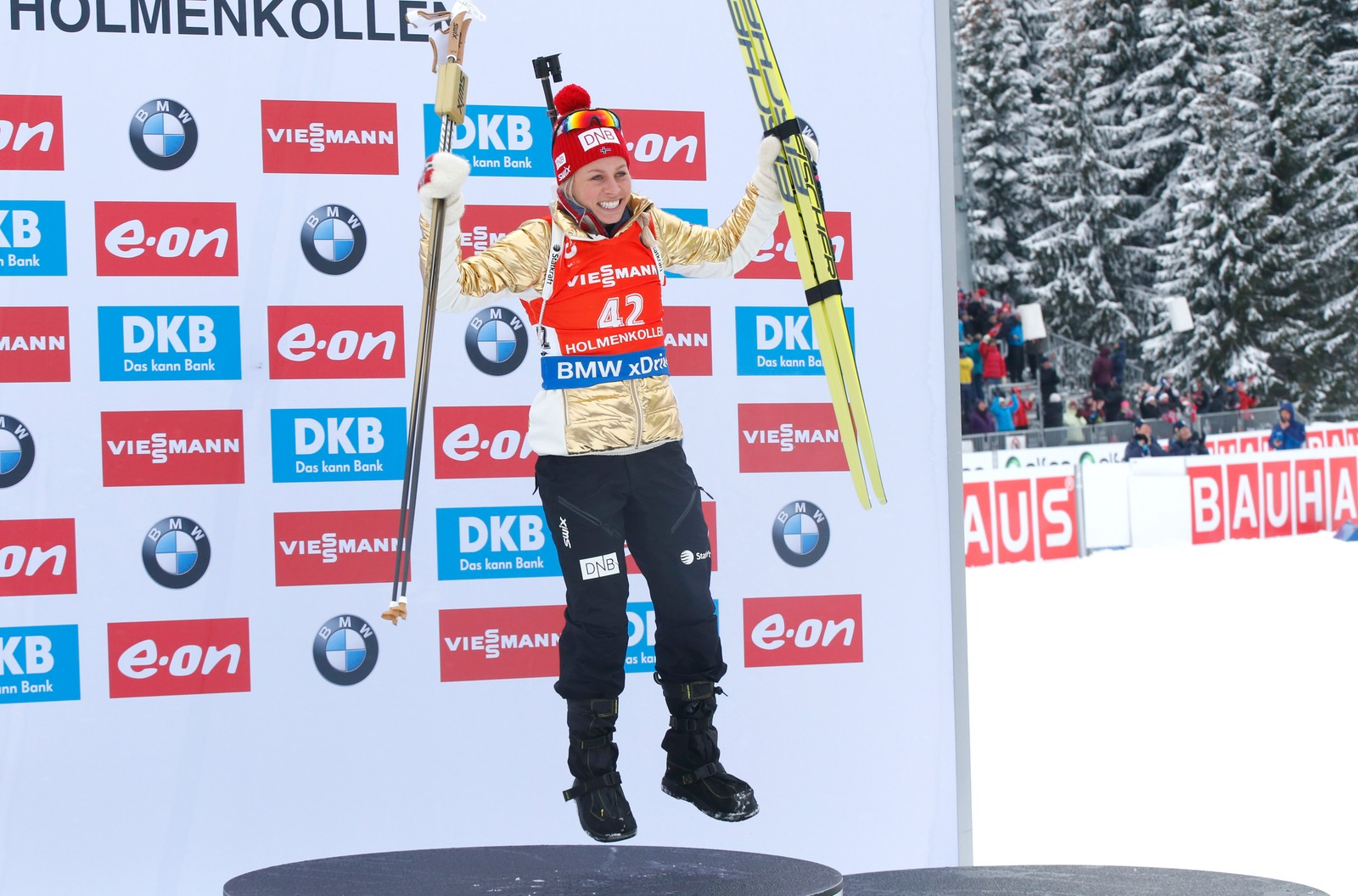 IBU Biathlon World Championships Oslo 2016: Sprint events Saturday 5 March: Norwegian gold medallist Tiril Eckhoff.
