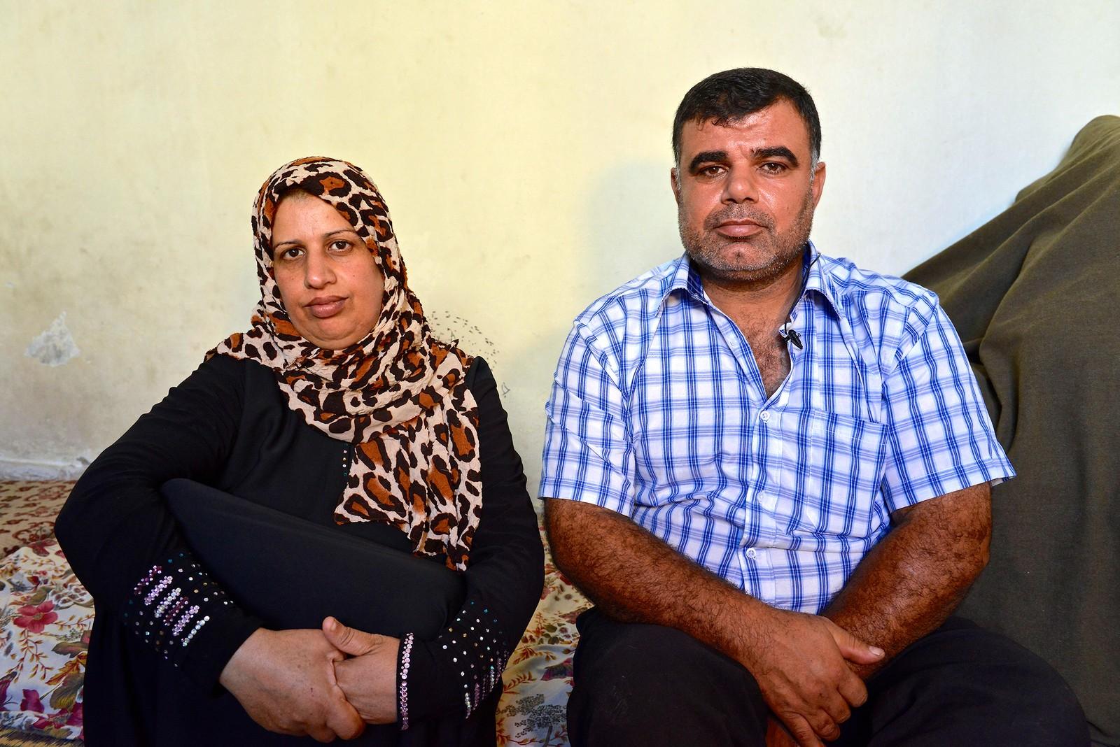 Mor Aida Alessa og far Mohammed Fayez Al-Zanghari