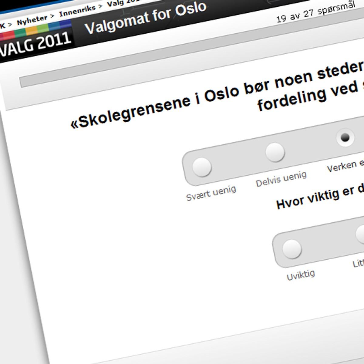 Slik Fungerer Nrks Valgomat Nrk Norge Oversikt Over Nyheter Fra Ulike Deler Av Landet