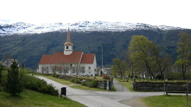 Eid kyrkje. Foto: Ottar Starheim, NRK.
