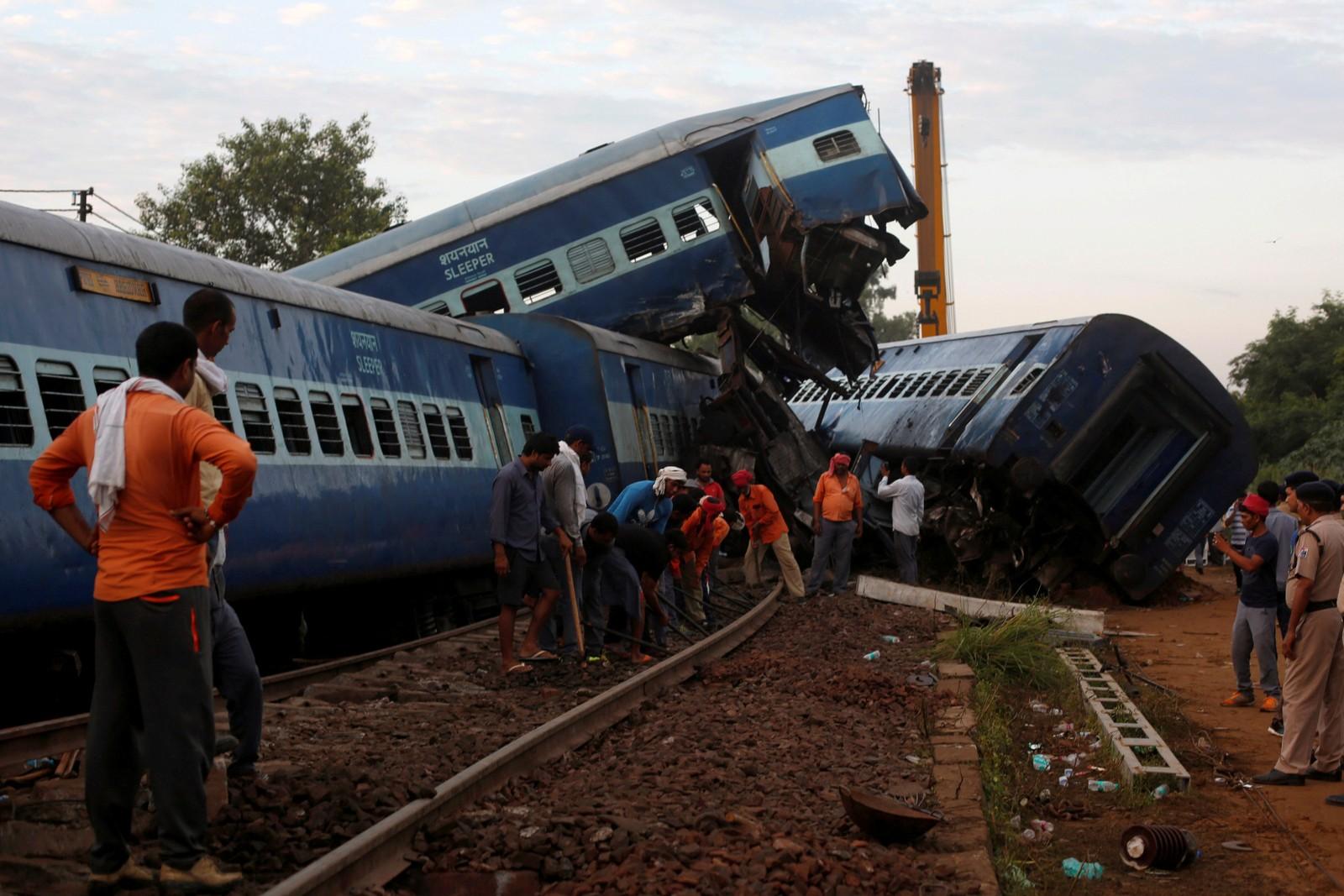 Minst 20 mennesker mista livet og over 70 ble skadd da to tog kolliderte i Khatauli, India forrige helg.