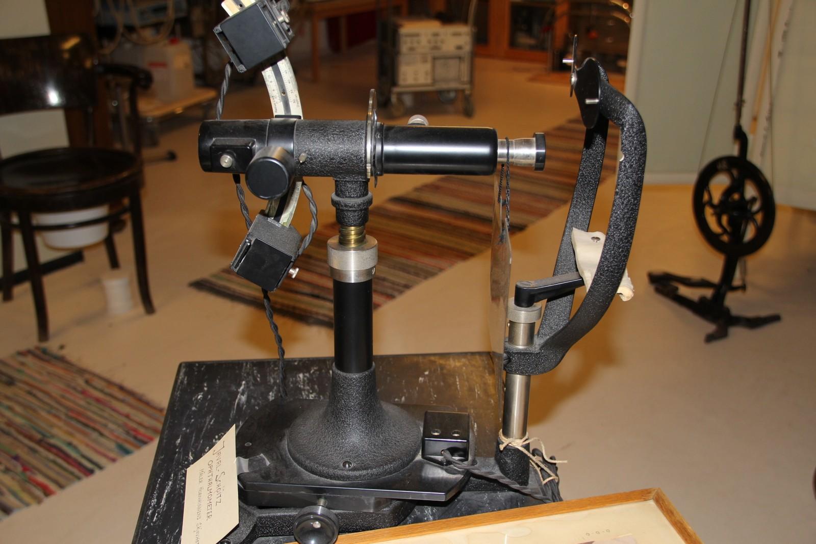 Apparat brukt for å måle hornhinnens skjevhet