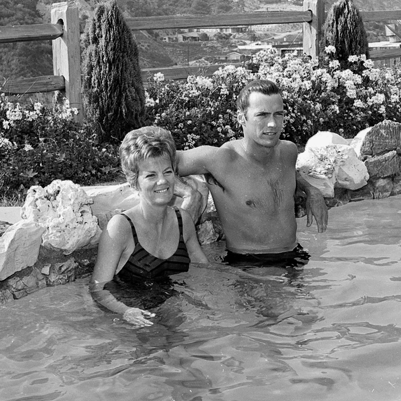 Eastwood og kona Maggie i 1962.