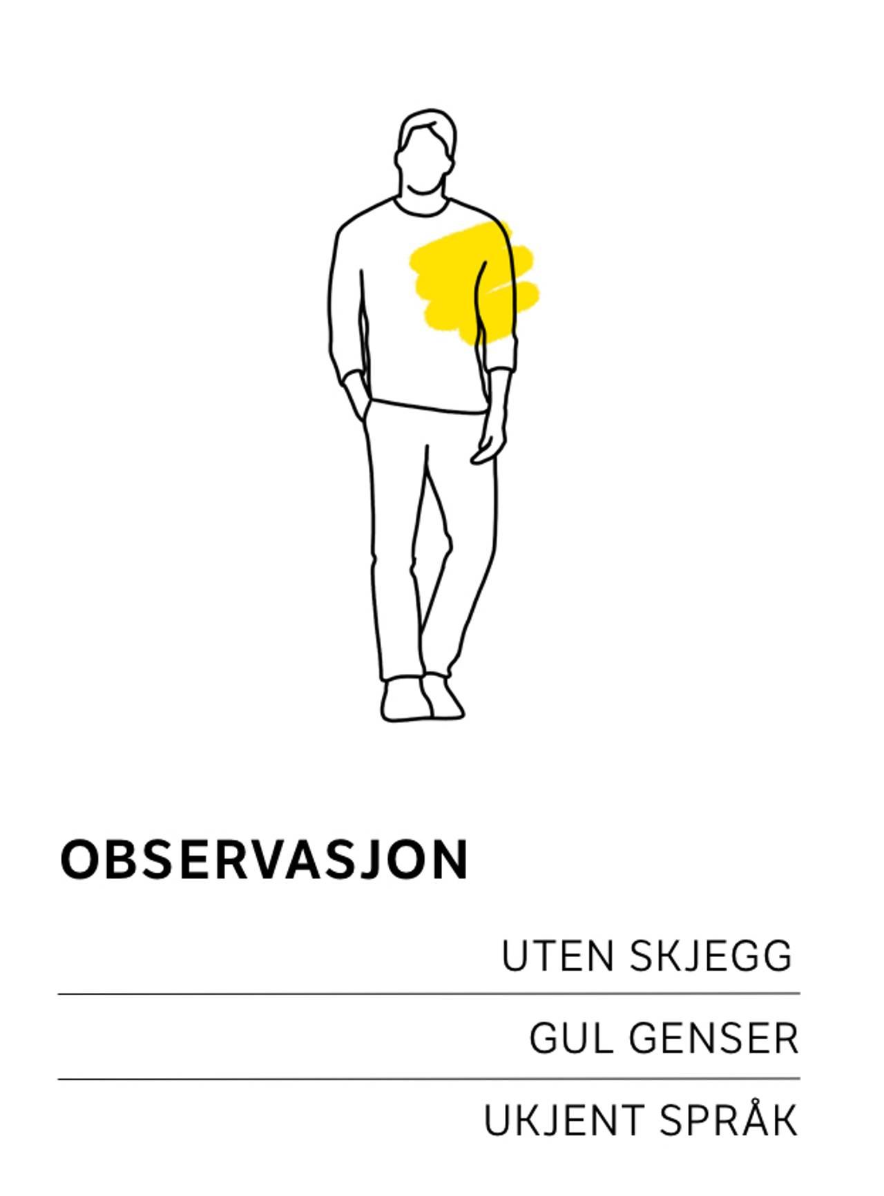 Obeservasjon i gul genser