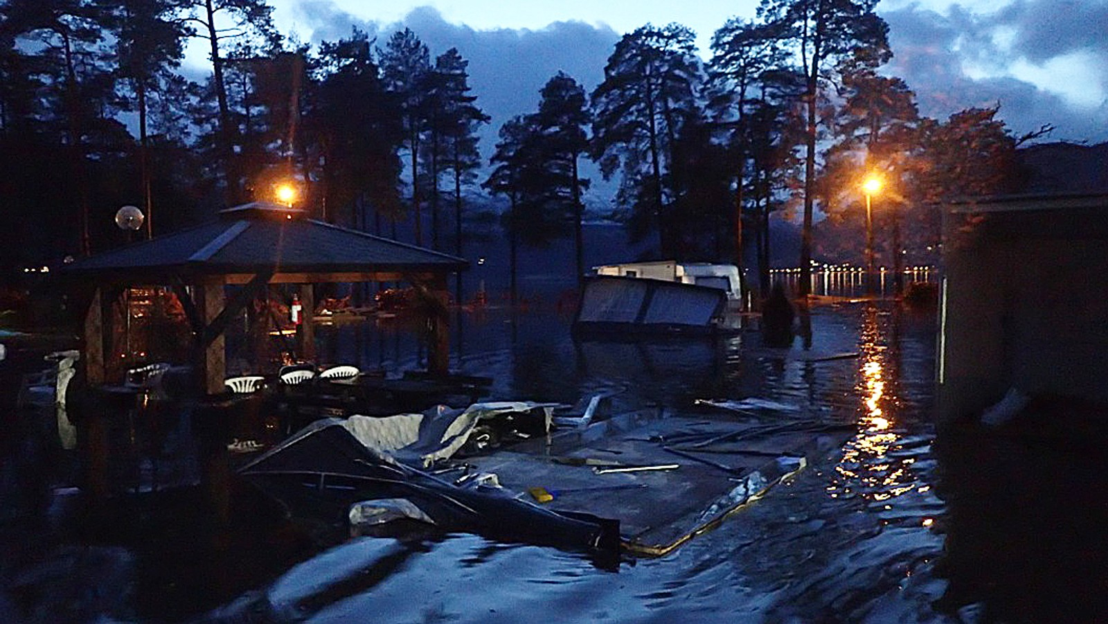 Flaumen råka også ein campingplass på Voss.