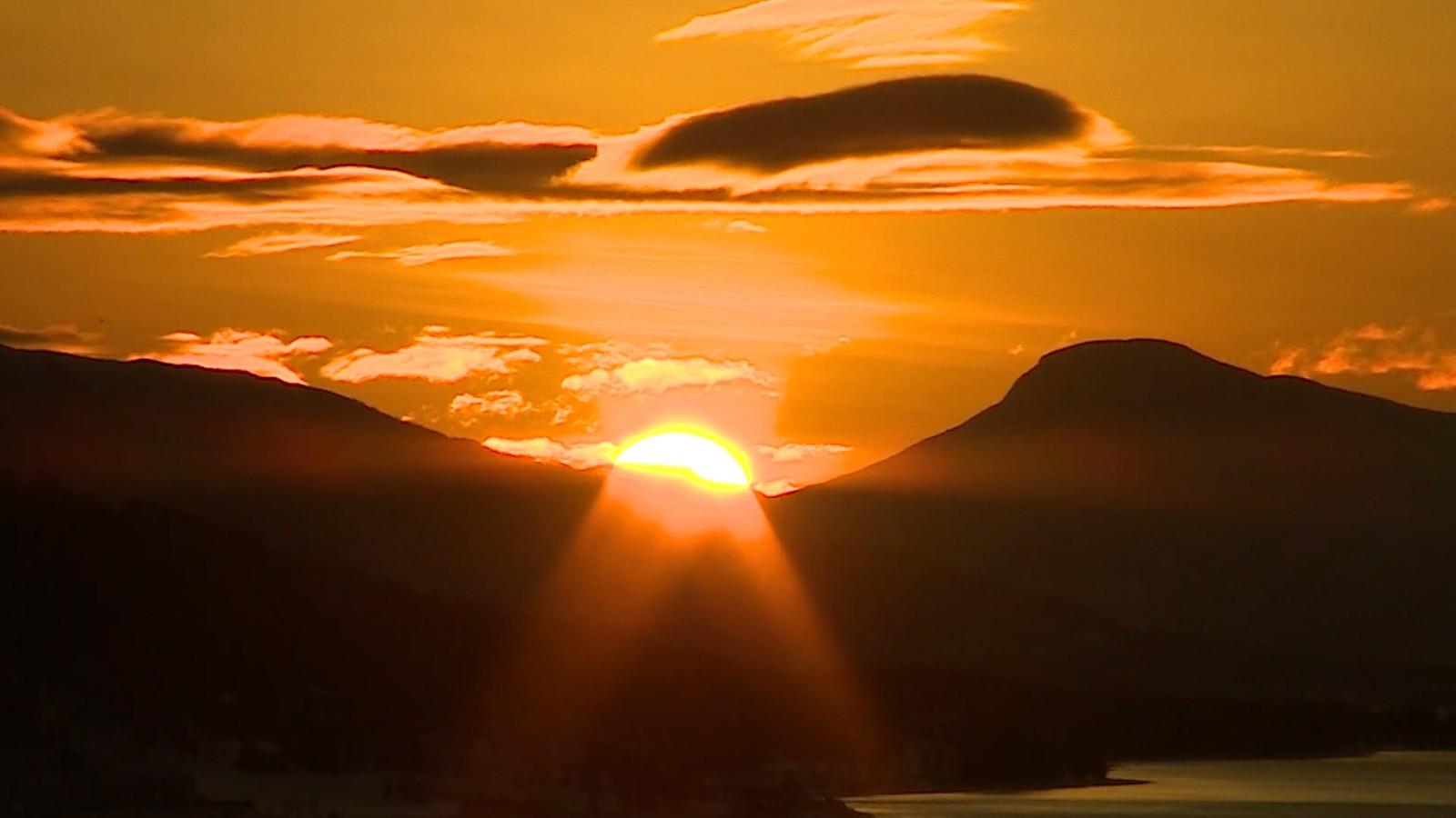 Sola tilbake i Tromsø.
