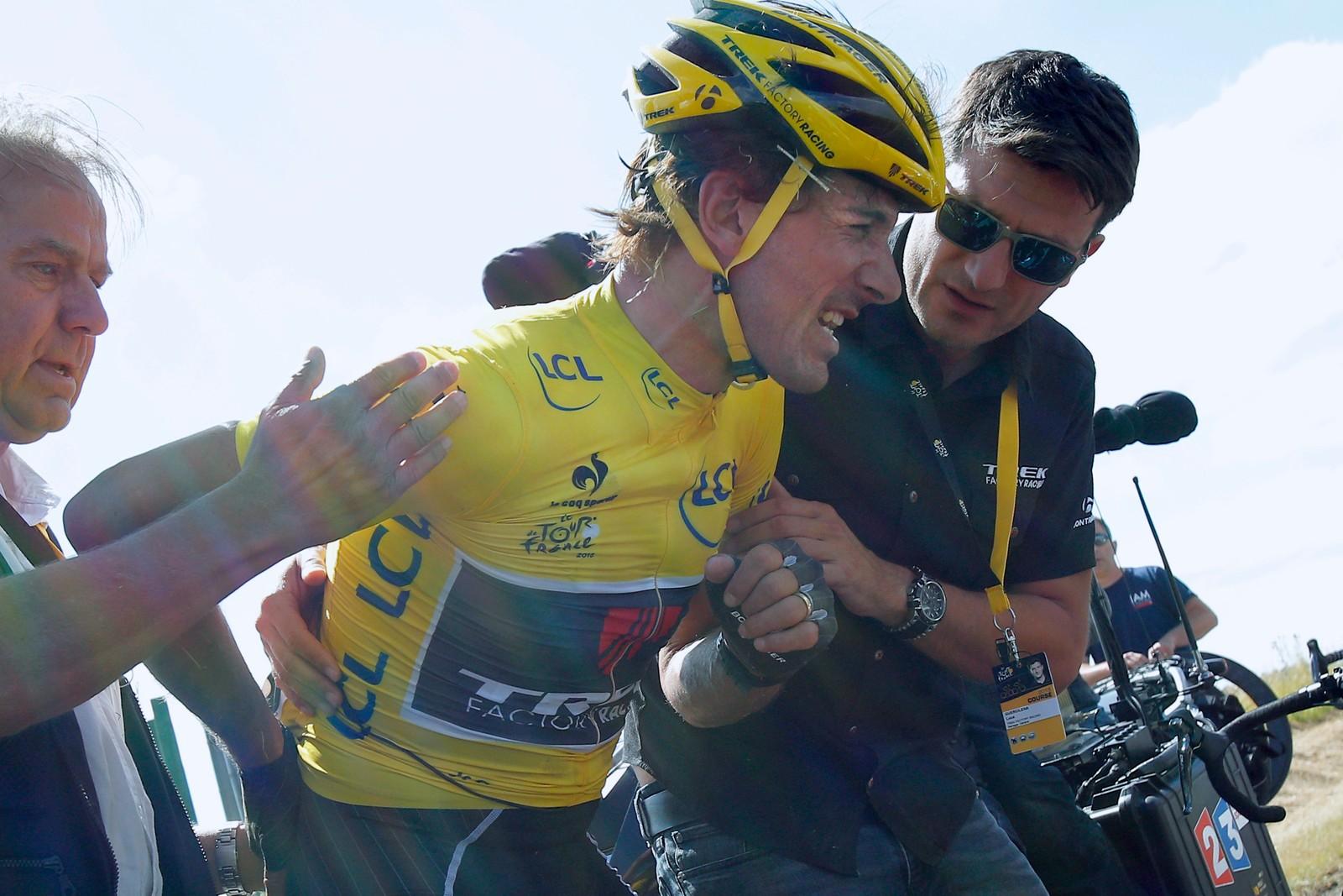 Herlige Fabian Cancellara måtte dessverre bryte etter fallet på den tredje etappen. (AP Photo/Christophe Ena)