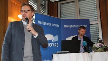Høyres pressekonferanse