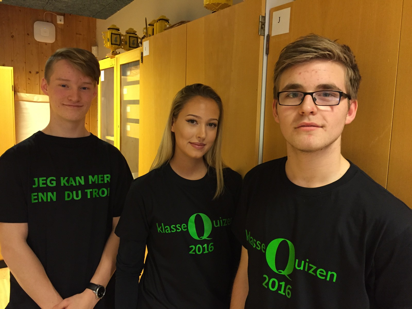 Emil Falkfjell Rosvoldaune, Andrea Dyrendalsli Eide, Petter Amund Breili fra Vanvikan skole fikk 7 poeng av 12 mulige.