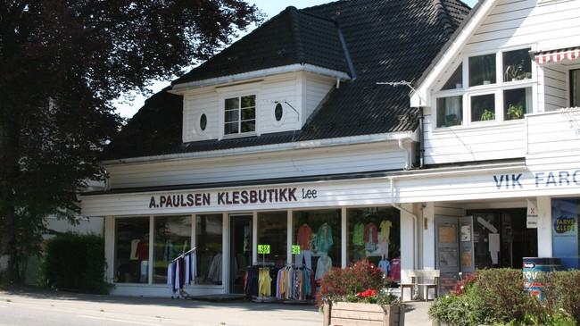A. Paulsen Klesbutikk. Foto: Ottar Starheim, NRK.