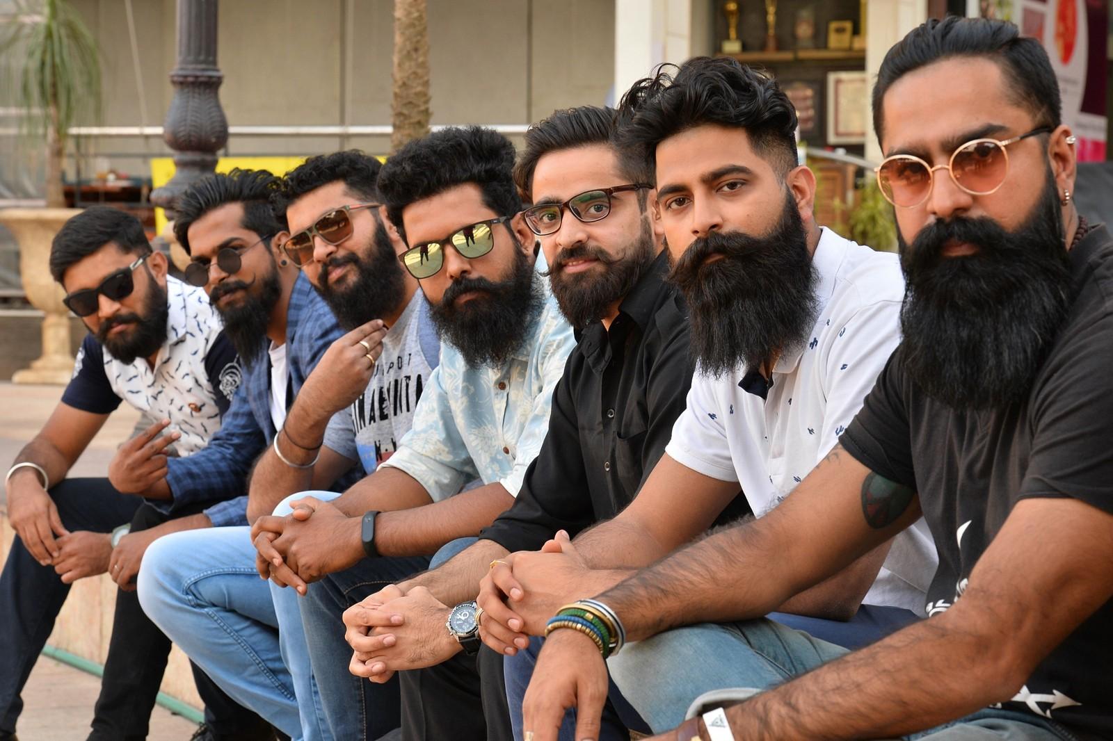 Skjegg- og bartekonkurranse i Bangalore i India.
