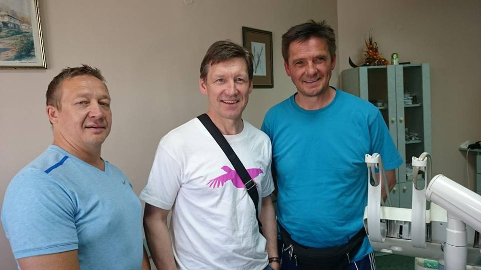 Isak Ole Hætta (I midten) sammen med Jan Olav Guttorm (t.h.) og Tor Gunnar Nystad.