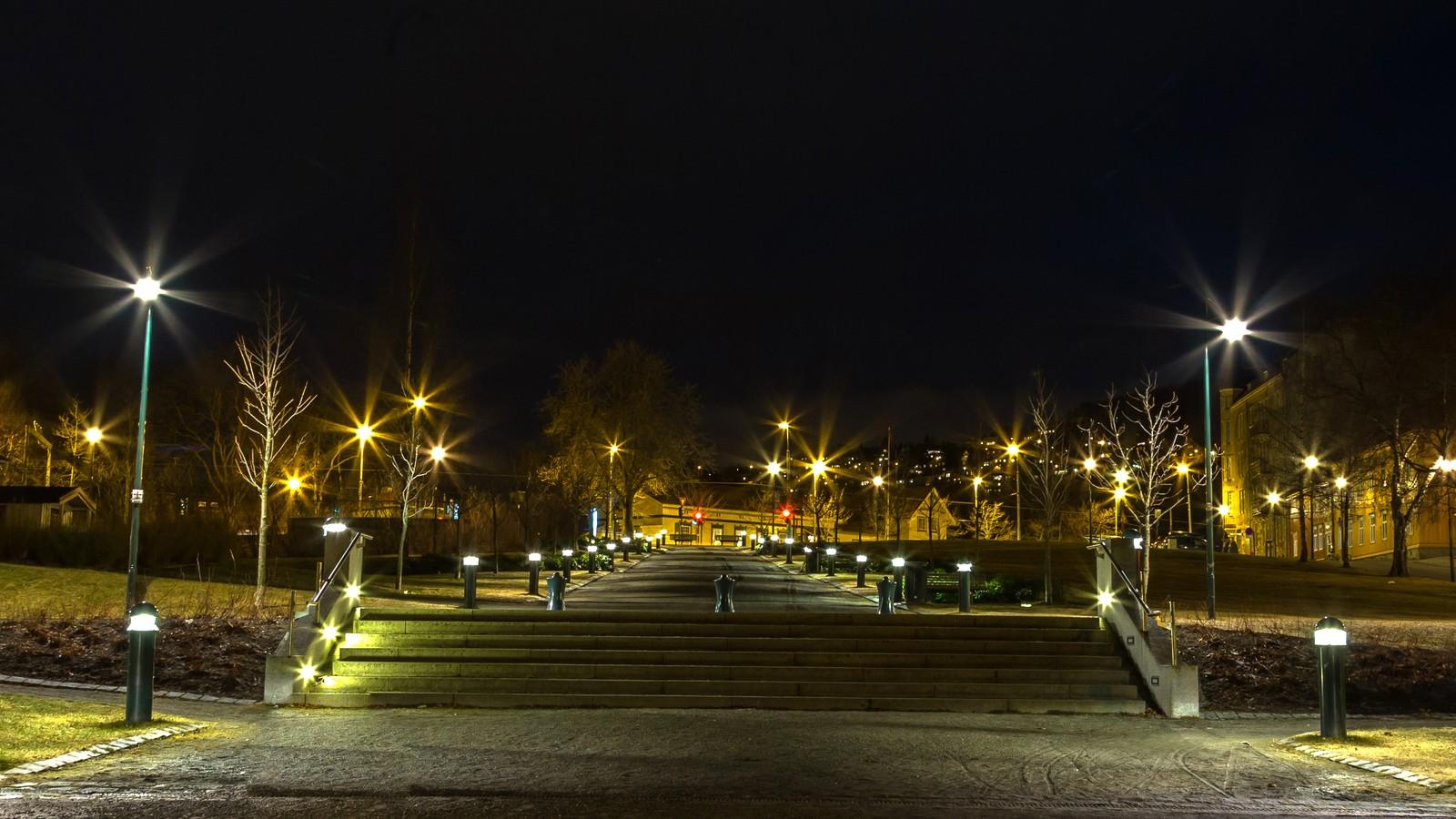 Kveldsstemning i Skansen