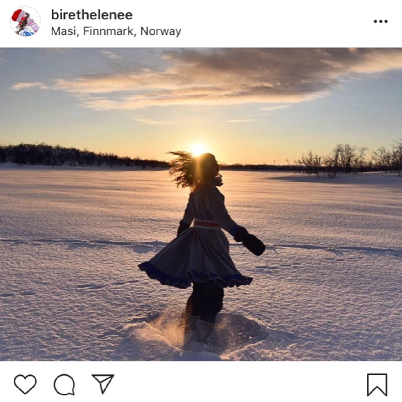 Biret Helene Eira sitt bilde fra instagram