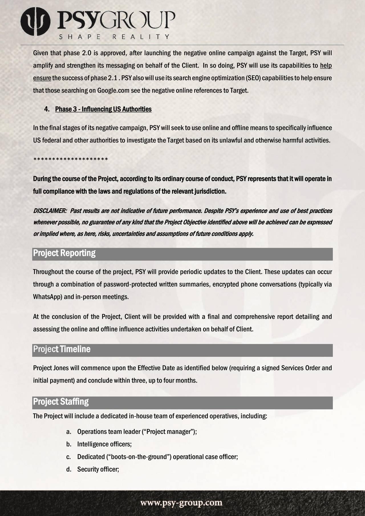 Side 4 i Psy-Group-kontrakten