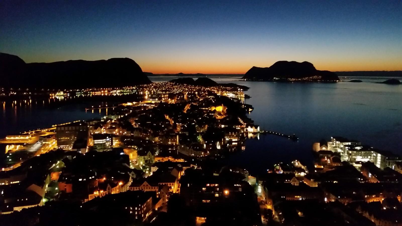 Ålesund by night.
