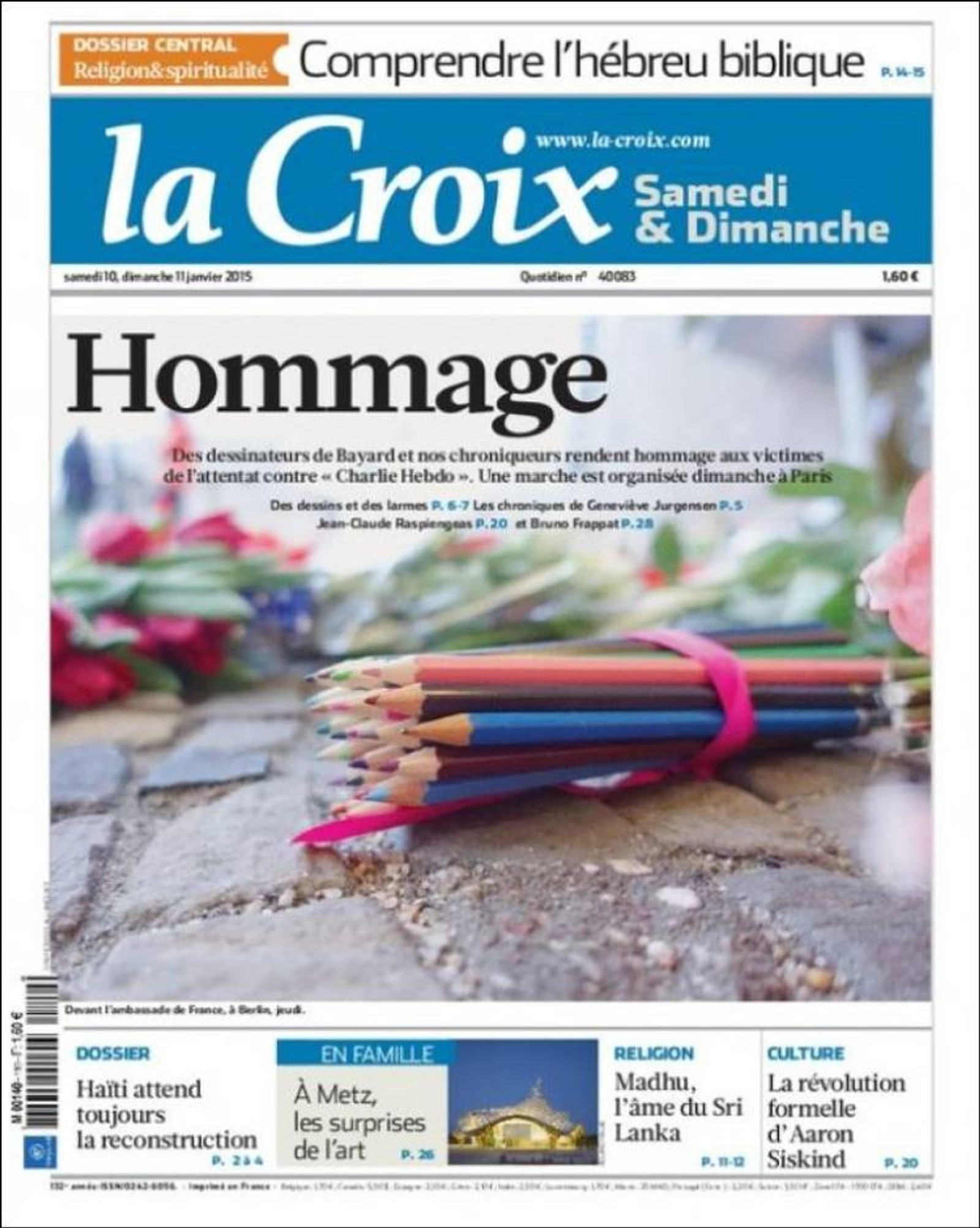 La Croix: Ærbødighet.