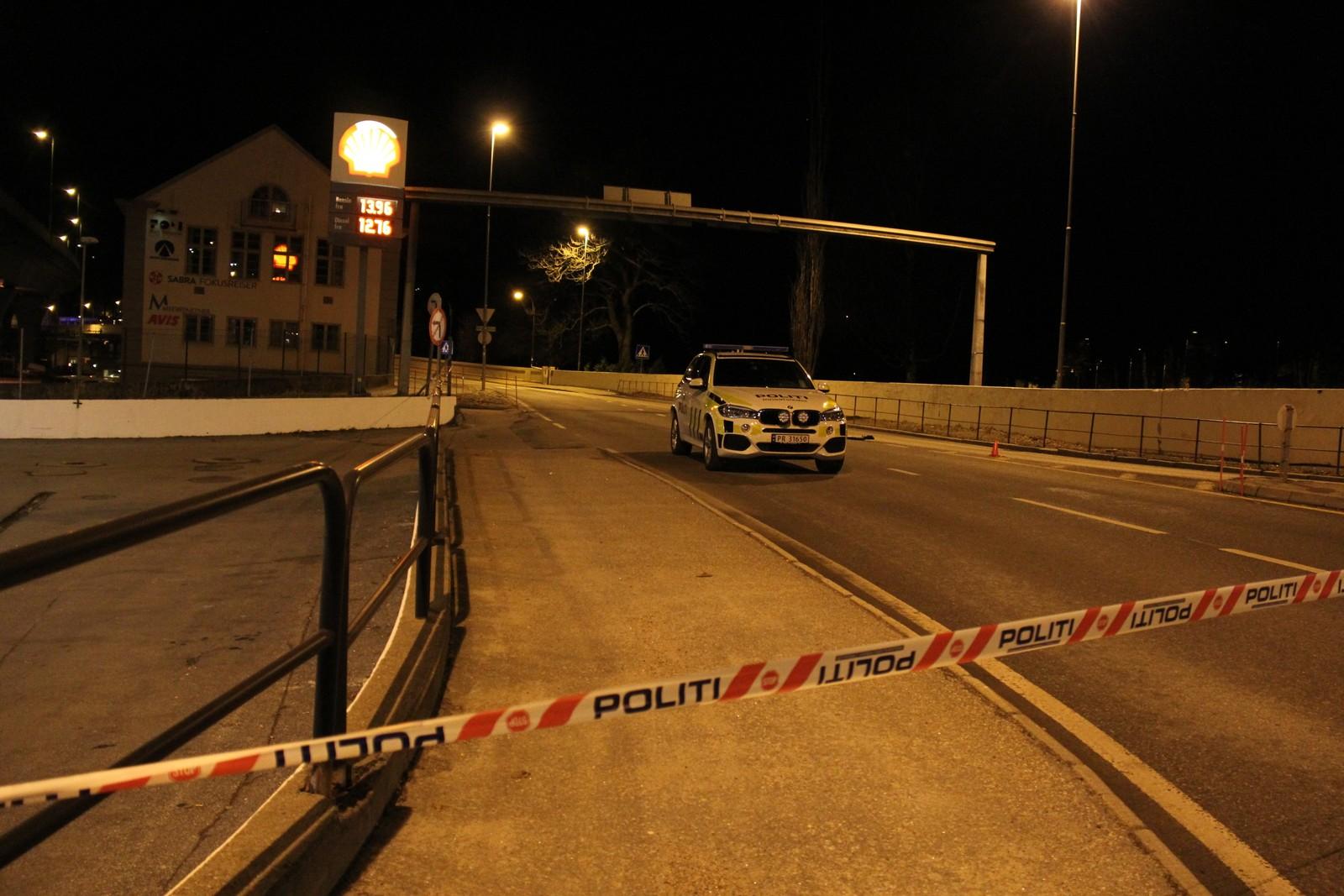 Skytingen skjedde ved en av innfartsveiene til Kristiansand sentrum.