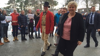 Erna Solberg på Romsdalsmuseet