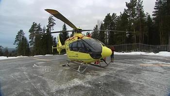 Helikopter på luftamulansens base