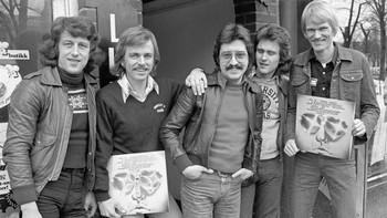 New Jordal Swingers under albumlansering i 1977.