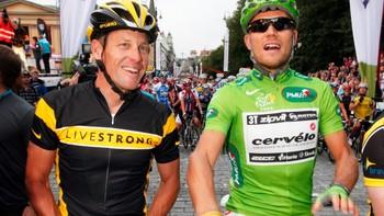 Lance Armstrong og Thor Hushovd