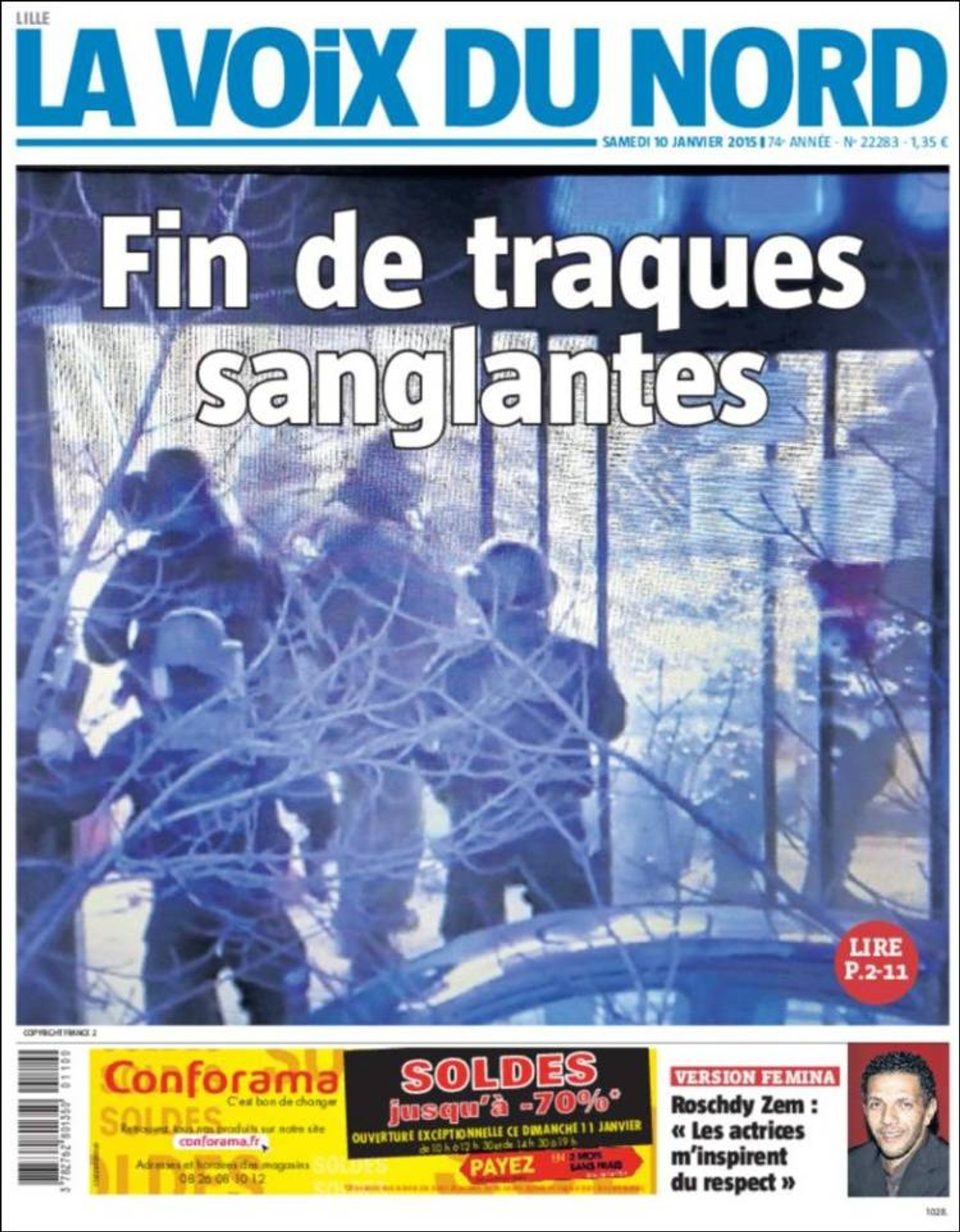 La Voix du Nord: Slutten på den blodige klappjakten.