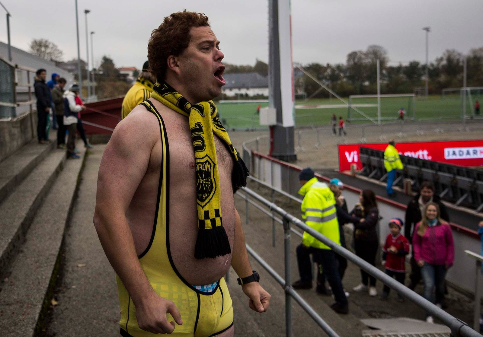 Denne Bærums-supporteren måtte reise skuffet hjem til Østlandet.